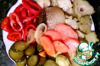 Быстрое маринованное овощное ассорти