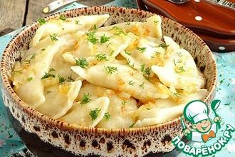 Вареники с фасолью, картофелем и творогом