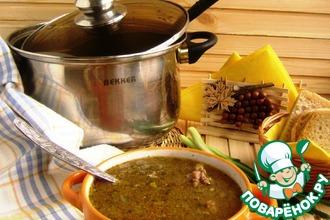 Суп с булгуром и утиными потрошками