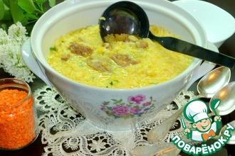 Рисово-чечевичный суп с лимонным ароматом
