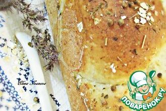 Хлеб с овсяными хлопьями и зеленью
