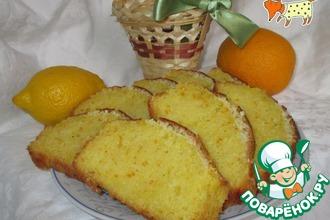 Апельсиновый кекс с кокосовой корочкой