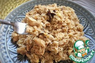 Куриная грудка с рисом на сыворотке