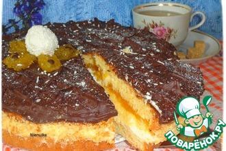 Торт с творожно-манным кремом