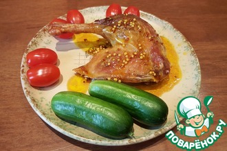 Просто запечённая утка с изумительным соусом