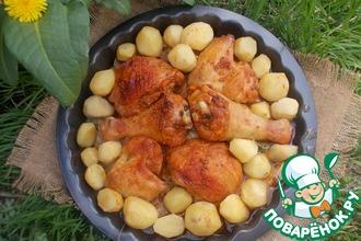 Курица с терияки и картофелем