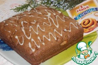 Яблочно-шоколадный пирог с корицей