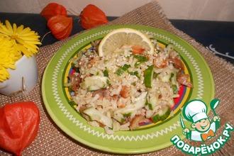 Рисовый салат с курицей