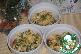 Запеканка с фасолью и рисом