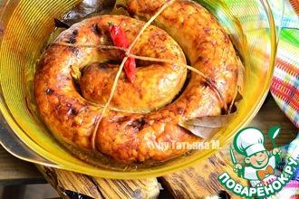 Куриная колбаса с рисом и паприкой
