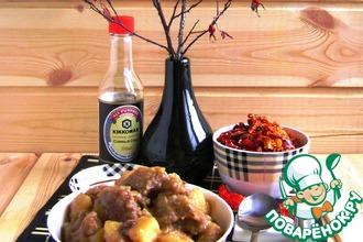 Тушеный картофель с мясом по-китайски