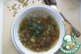 Суп из чечевицы с отварным языком