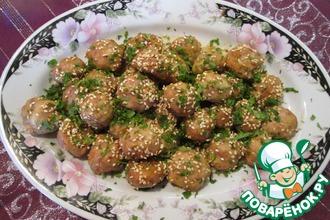 Фрикадельки из курицы в азиатском стиле