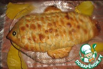 Пирог рыбный с картофелем и фасолью