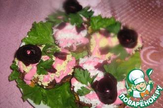 """Печеночные пирожные """"Розовые розы"""""""