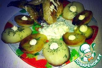 Картофель с чесночным соусом