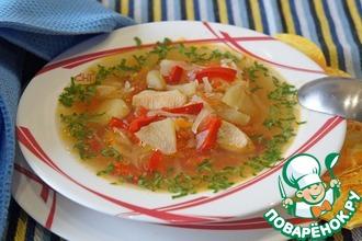 Овощной суп с кислыми яблоками