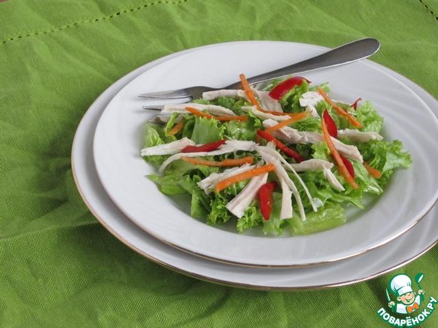 Даже простой листовой салат с добавлением такого мяса угодит по вкусу самому взыскательному гурману.        Искренне советую и рекомендую попробовать.
