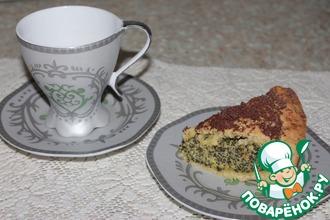 Баскский пирог с маковым заварным кремом