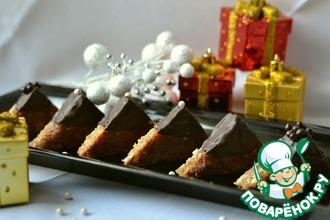 """Новогоднее пирожное """"Ореховые треугольники"""""""