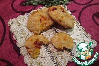 Сырное печенье с вялеными помидорами