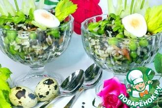 Салат из риса и чечевицы