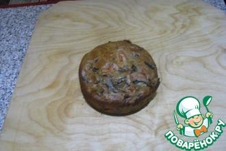 Закусочный кекс с баклажанами и помидорами