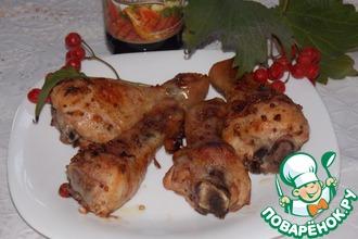Куриные голени, запечённые с калиной
