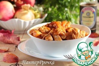 Куриное филе под яблочным барбекю-соусом