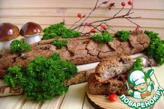 Гречневое полено с печенью и грибами