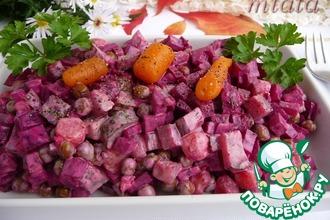 Острый салат со свеклой
