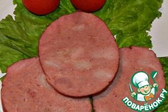 Домашняя вареная колбаса из свинины