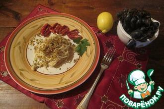 Спагетти с хрустящей посыпкой