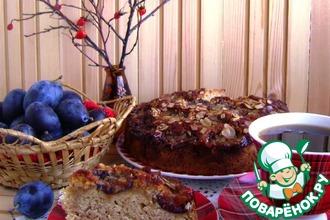 Сливовый пирог с пикантной карамелью