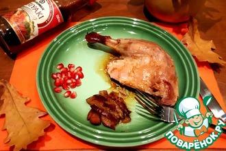 Утка со сливами в соево-сливовом маринаде
