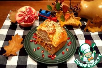 Пирог с осенними овощами и индейкой