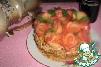 """Тыквенный торт """"Букет роз"""""""