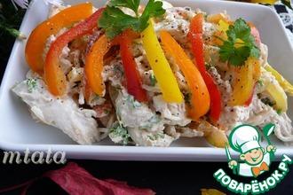 Куриный салат с болгарским перцем и сельдереем