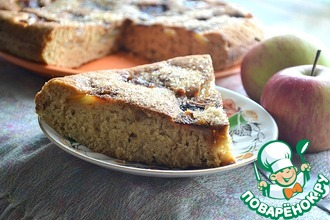 Яблочный пирог в сковороде