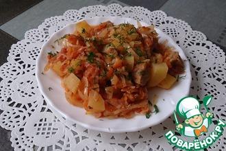 Овощное рагу с мясом на ужин