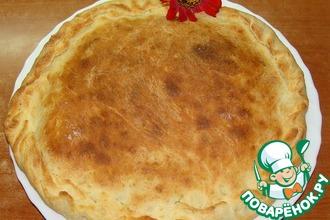 Пирог с картофелем на манном тесте