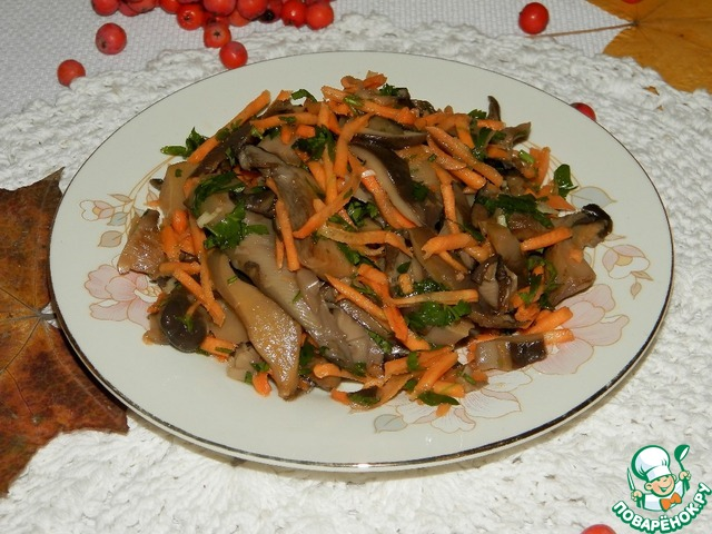 Вот и всё, очень вкусные маринованные грибочки готовы!   Перед подачей заправить рубленой зеленью и сбрызнуть маслом.
