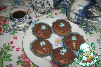 Шоколадные кексы с халвой
