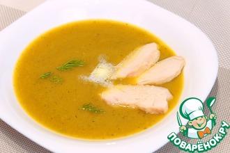Овощной суп-пюре с куриным филе