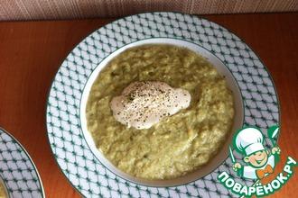 Суп-пюре из кабачка со щавелем