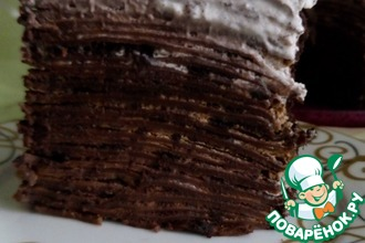 Шоколадно-кофейный блинный торт