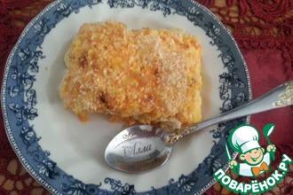 Запеканка из курицы, тыквы и сыра
