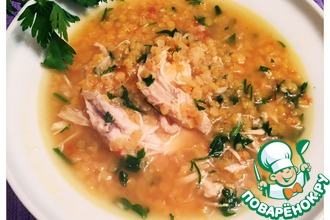 Густой армянский суп с чечевицей