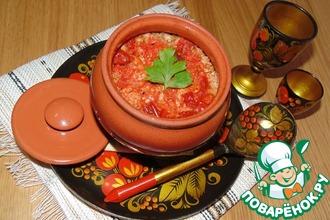 Гречневая каша с вялеными томатами и индейкой