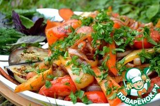 Теплый салат к шашлыку